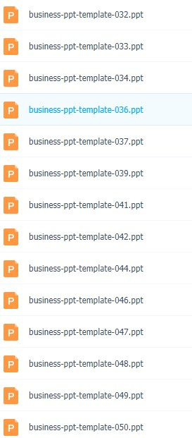 50套精美商务PPT模板百度网盘下载